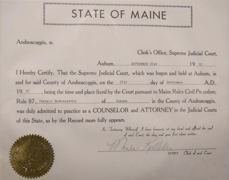 Maine Supreme Judicial Court